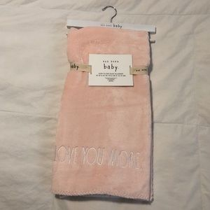 Rae Dunn - Love You More Baby Blanket